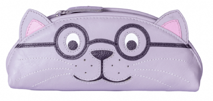 Harry the Cat Leather Glasses Case
